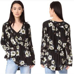 Free People Tuscan Dreams Floral Tunic Blouse NEW